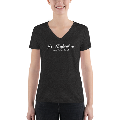 All About Me - Women's Fashion Deep V-neck Tee