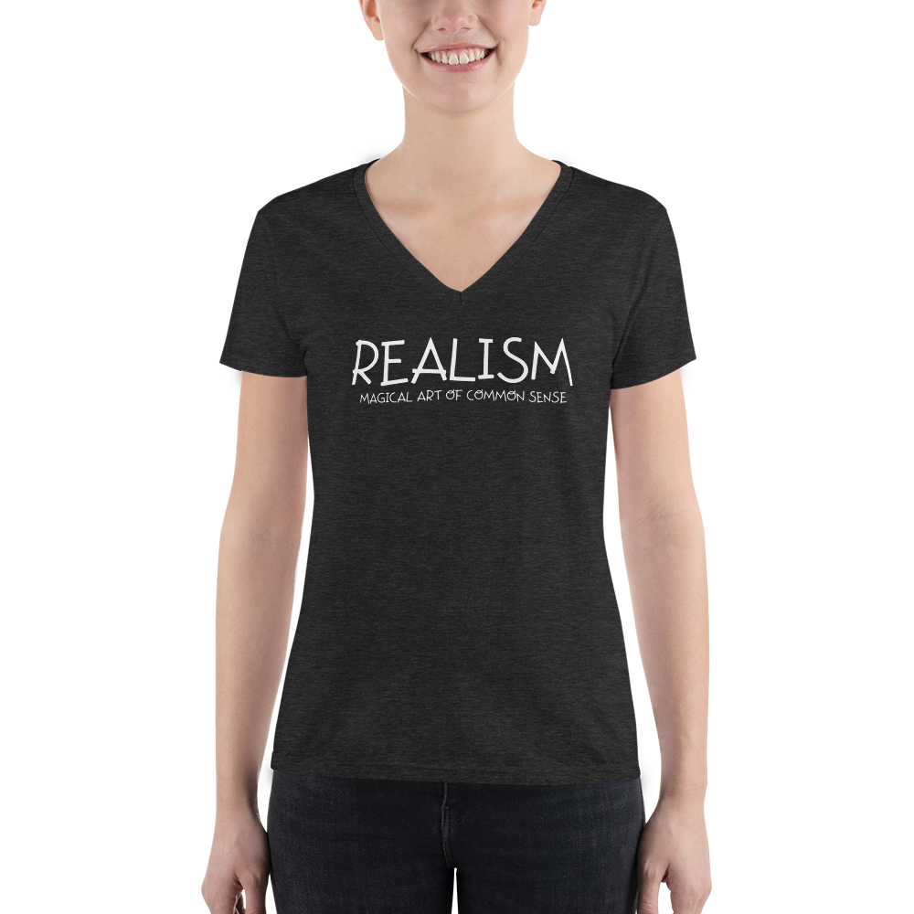 Realism - Women's Fashion Deep V-neck Tee