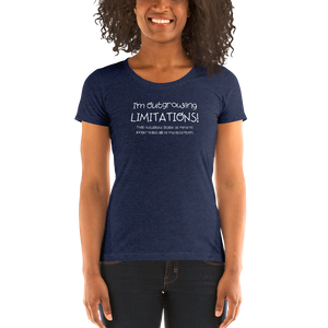 I'm Outgrowing Limitations - Ladies' short sleeve t-shirt