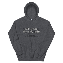 Load image into Gallery viewer, Fearlessly Honoring My Heart! - Unisex Hoodie