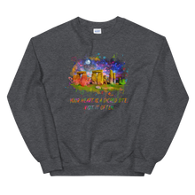 Load image into Gallery viewer, Your Heart Is A Sacred Site - Unisex Sweatshirt