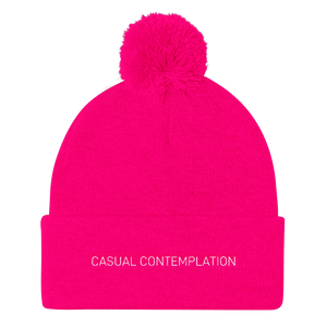 Casual Contemplation - Pom Pom Knit Cap