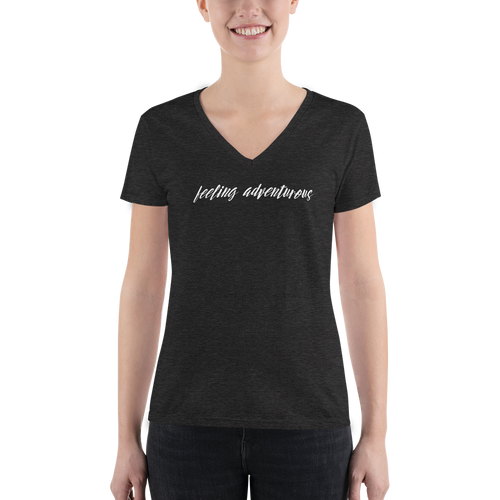 Feeling Adventurous - Women's Fashion Deep V-neck Tee