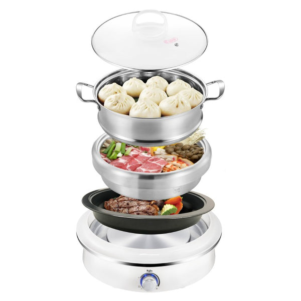 Kylin Electric Multi-Function 3 in 1  Grill / Hotpot / Streamer 4L - AUK2011