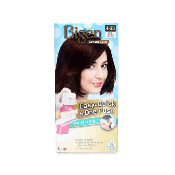 BIGEN One Push Permanent Hair Color Dark Caramel Brown