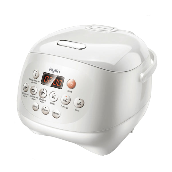 Kylin Electric Multi-Function Ceramic Pot Rice Cooker 3L White/Pink AU-K1030