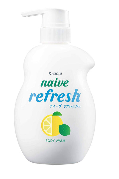 KRACIE Naive Body Pump Soap (Refresh) 530ml