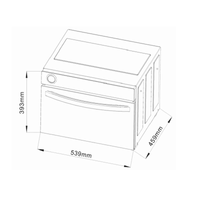 DiLUSSO Free standing Steam Oven - WHITE/BLACK GLASS