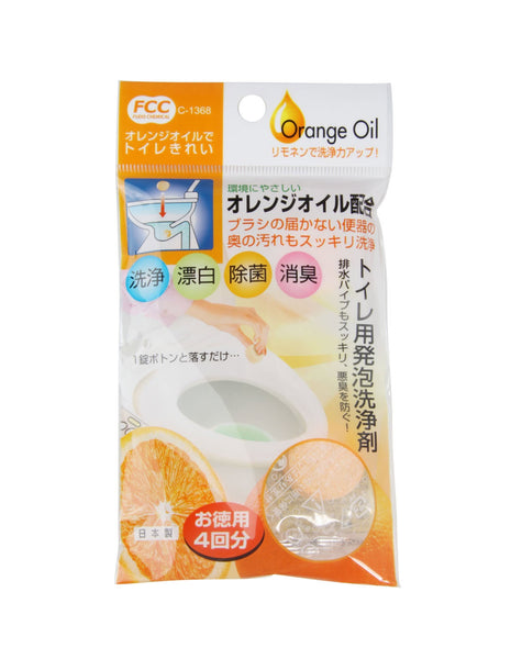 FUDO Toilet Cleanser with Orange Oil 4pcs
