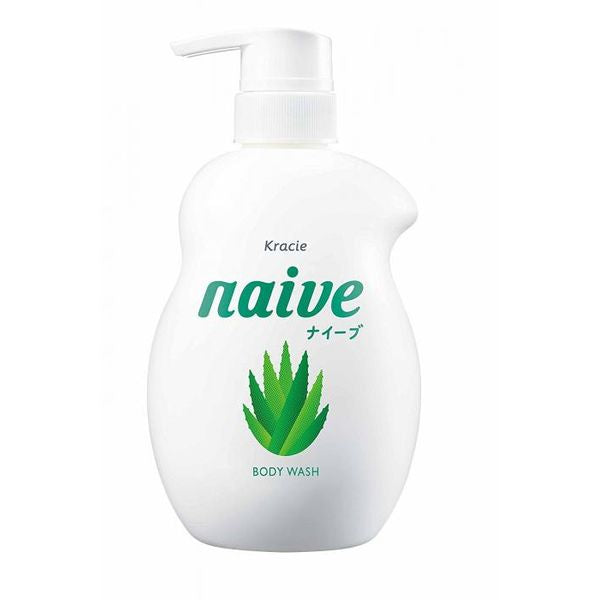 KRACIE Naive Body Pump Soap (Aloe) 530ml