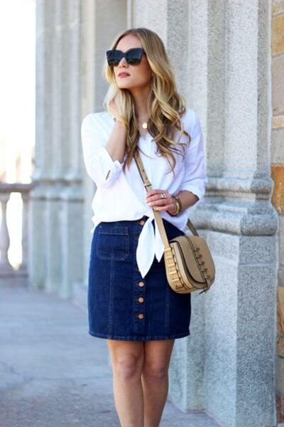 jupe-jeans-chemise-blanche