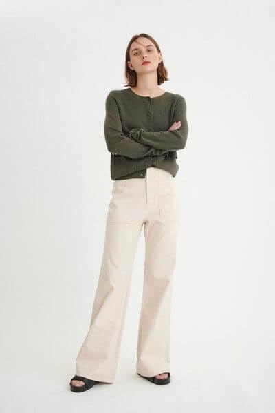 Pantalon Mavis Beige In Wear