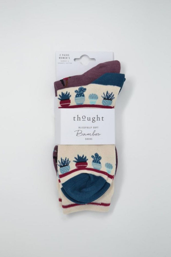 Lot de 2 chaussettes en bambou Yogi Thought