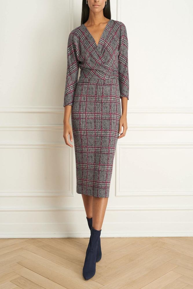 Robe à Plaid tricoté extensible