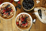 Oatmeal with Fresh Fruit and Chocolate Drizzle
