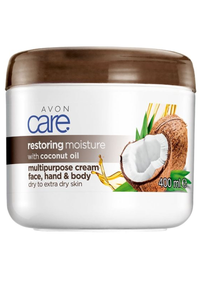 Avon Care Restoring Moisture with Coconut Oil Multipurpose Cream - 400ml