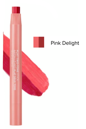 Avon Face Shop Flat Two-Tone Lipstick Pink Delight