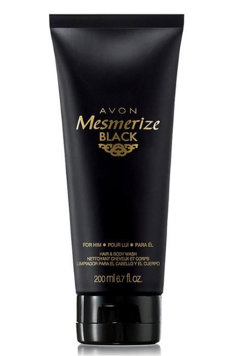 Mesmerise Black Hair and Body Wash 200ml