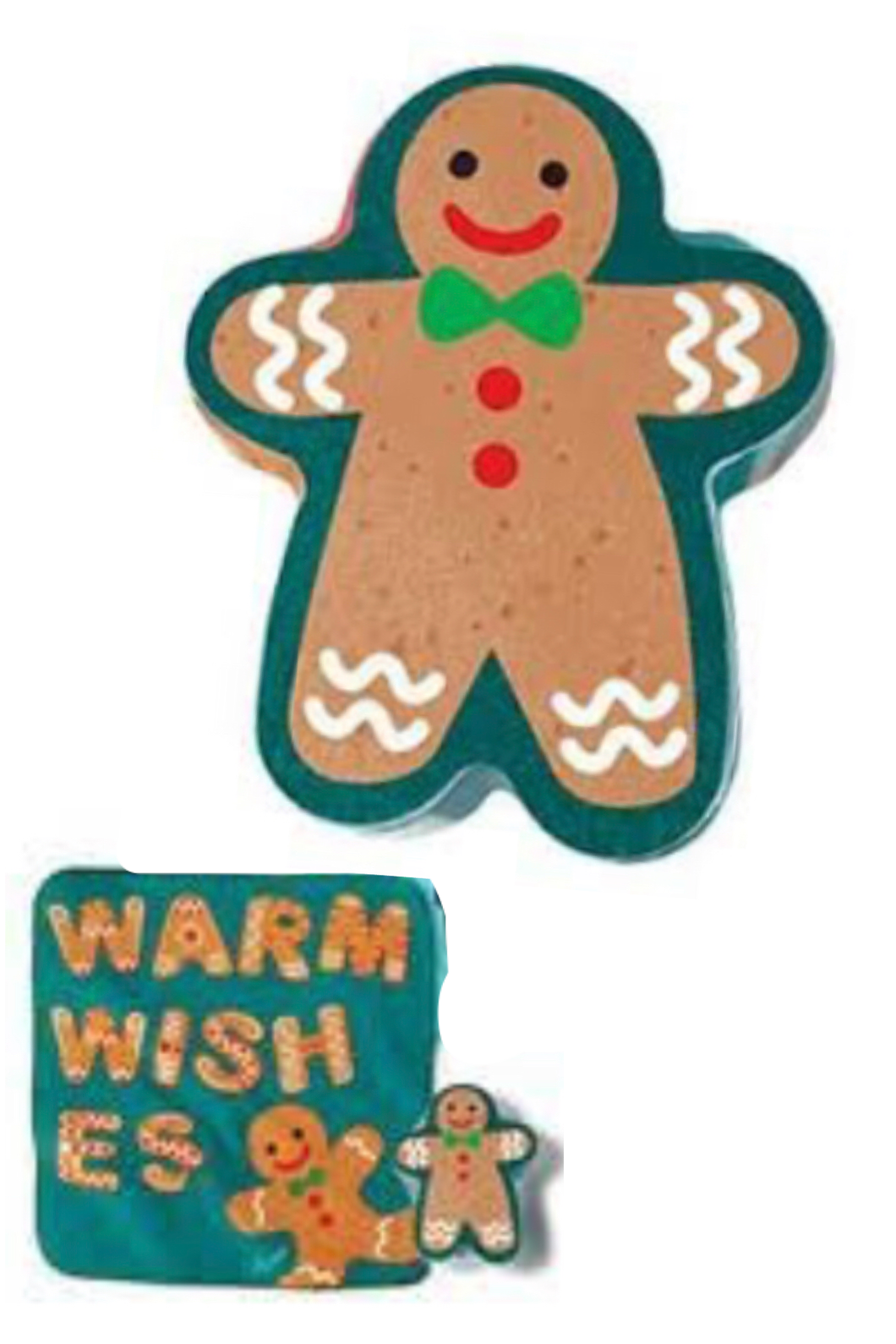 Gingerbread Man Kids Holiday Washcloth