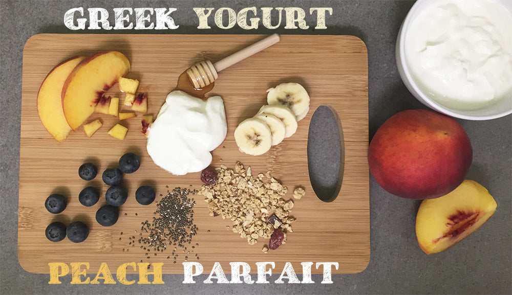 Greek Yogurt Peach Parfait