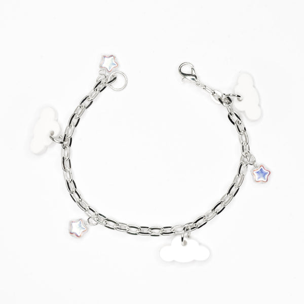 Cloud and Iridescent Star Bracelet