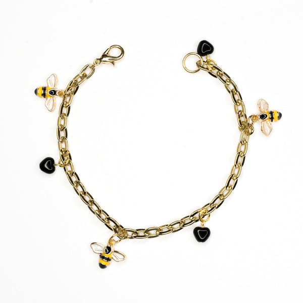 Bee and Heart Bracelet