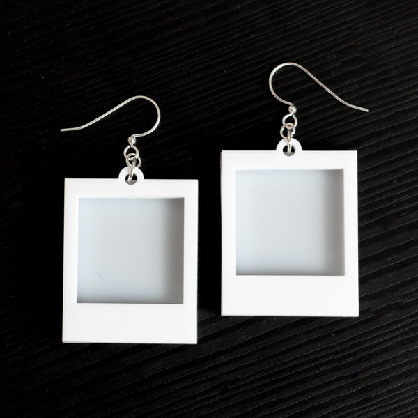 Empty Polaroid Earrings (Fill with your own picture!)