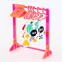 Clothing Rack Earring Hanger - Neon Orange