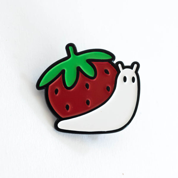 Strawberry Snail Pin