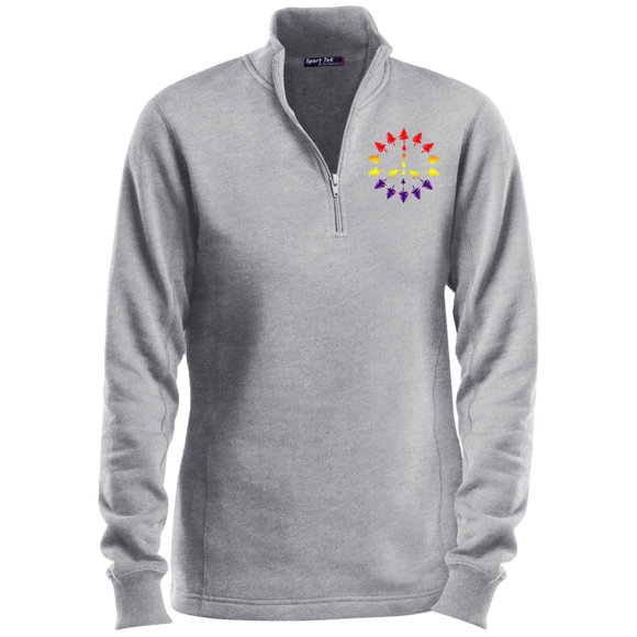 PEACE TREES - Ladies' 1/4 Zip Sweatshirt