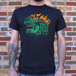 Dumpster Truck Fire 2017 T-Shirt (Mens)