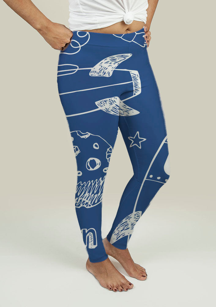 Leggings with Rockets