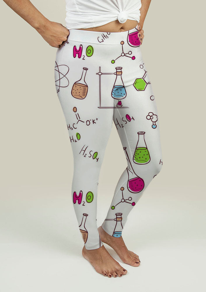 Leggings with Chemistry Pattern