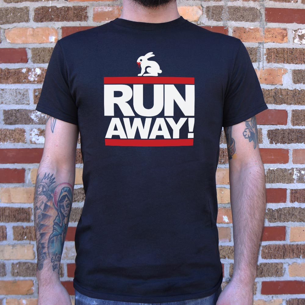 Run Away Rabbit T-Shirt (Mens)