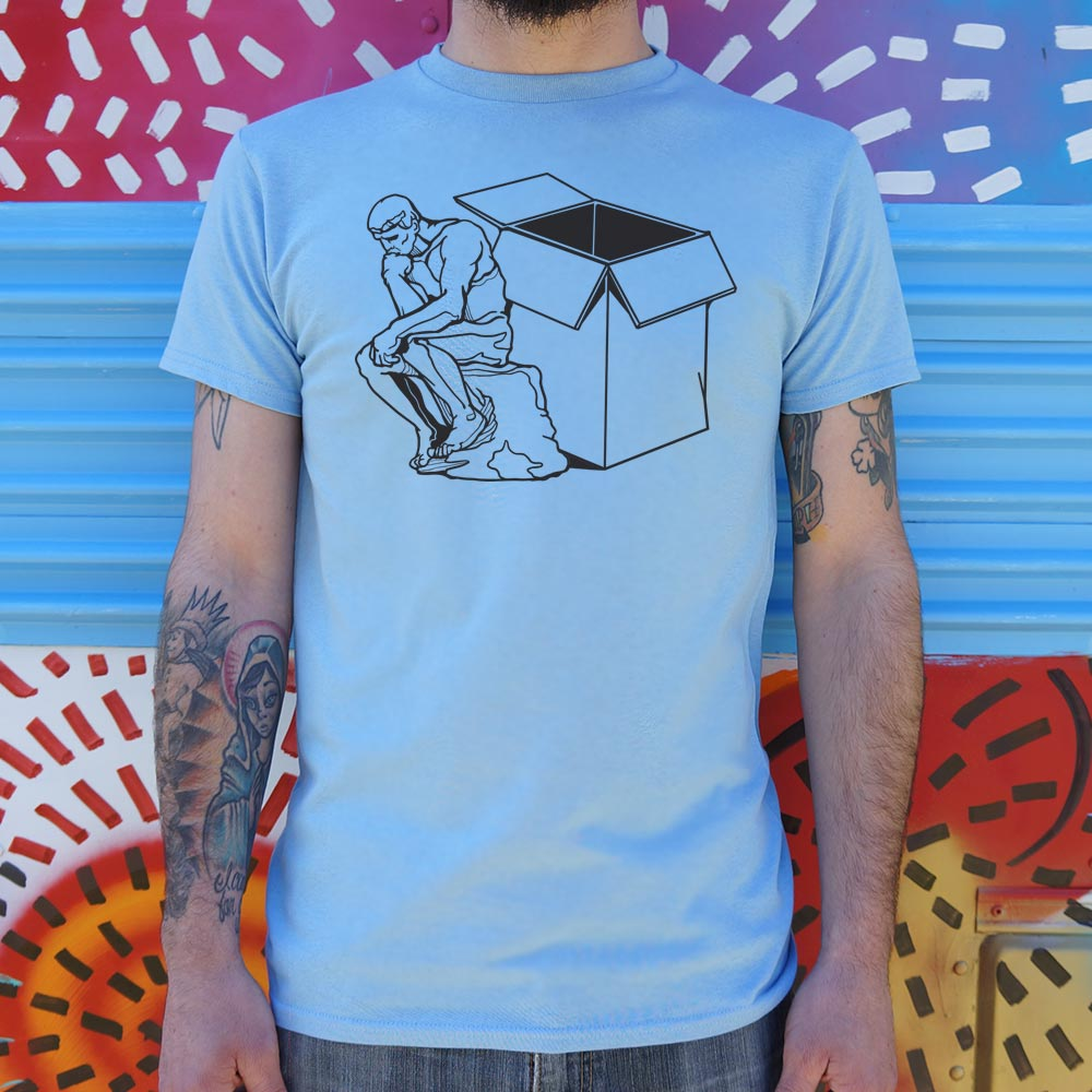 Thinker Outside The Box T-Shirt (Mens)