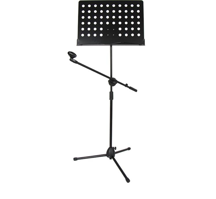 Music Stand With Microphone Stand - AZP-513 (For Musician Who Sit and play Guitar While singing)