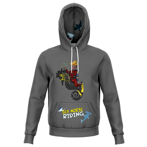 Sea Horse Riding Aquatic Kid B Hoodie 2