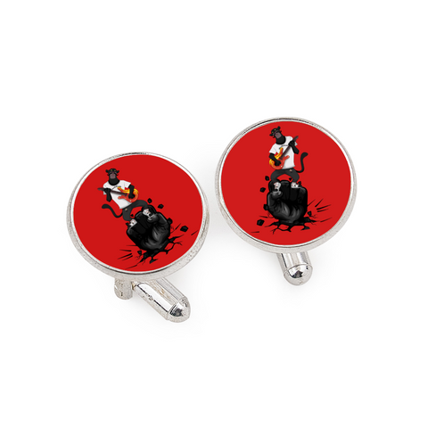 Bearded Tracks Panther Cufflinks for Tuxedo Studs Set Cufflinks