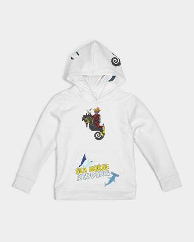 Sea Horse Riding  Kids Hoodie