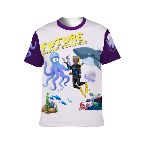 Original Aquatic Kid Customizable Unisex All Over Print T-Shirts