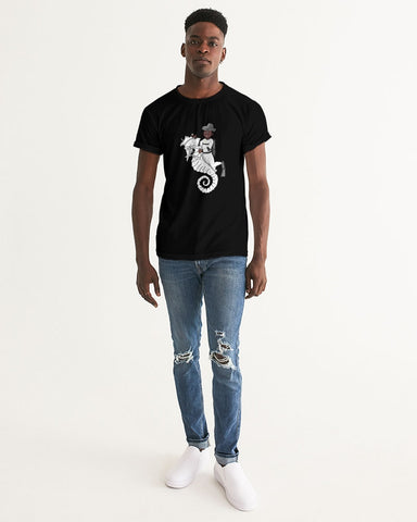 Aqutic Kid White Seahorse Riding  Men's Graphic Tee
