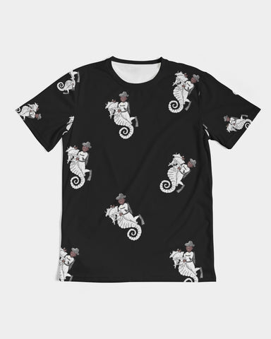 Seahorse Riding All Over  Men's Tee