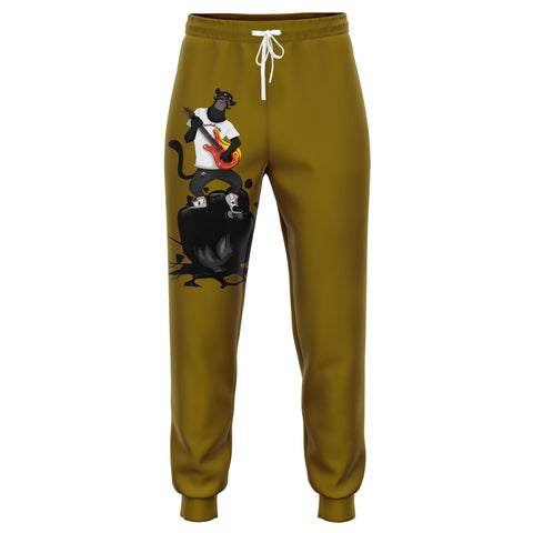Bearded Tracks Panther Joggers Gold Edition