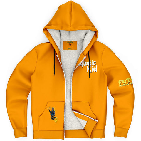 Orange Aquatic Kid Hoodie