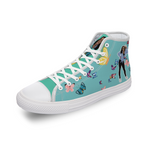 I Am Just Brit Butterfly Comfortable Canvas High Top Shoes for Men Women