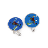 Original Aquatic Kid Cufflinks for Tuxedo Studs Set Personalized Cufflinks Unique Shirt Cufflinks Business Groom Wedding Gift (A pair)