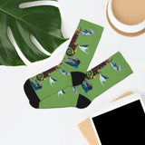 SeaHorse Riding DTG Socks