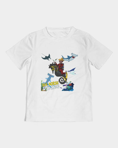 Seahorse Riding Main Artwork  Kids Tee