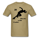 It Starts with Faith T-Shirt - khaki