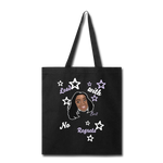 Lead With No Regrets Tote Bag by Andre Nostalgic Brown Collection - black